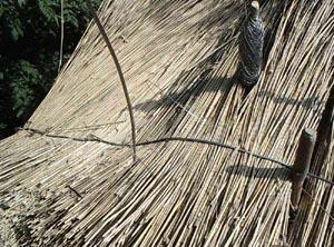 3.) Unter Andrücken des Haltedrahtes wird der Bindedraht verrödelt.